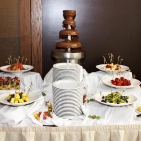 Cascada de ciocolata si fructe
