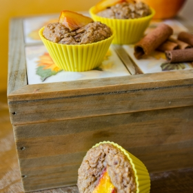 Oatmeal and peach cupcakes