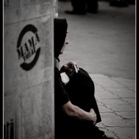 Old beggar woman