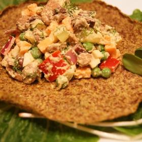 Salata de boeuf cu maioneza vegana