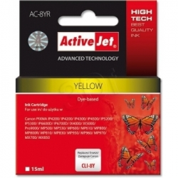 Activejet Replace Canon Cli-8y (15ml) - Pixma Pro9000