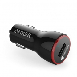 Anker Powerdrive+ 1 - Incarcator Auto Premium  24w  Qualcomm Quick Charge 3.0  Negru