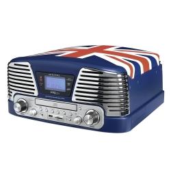 Bigben Blue Turntable - Pickup  Radio  Cd/mp3 Player