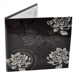 Carcasa 1 Cd Dvd  Piele Eco  Model Floral - Negru