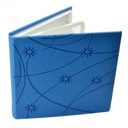 Carcasa Cd Dvd  Piele Eco  Model Colorat - Albastr