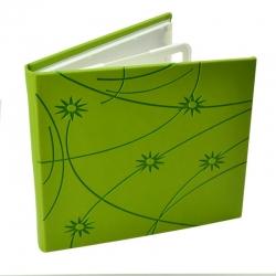 Carcasa Cd Dvd  Piele Eco  Model Colorat - Verde