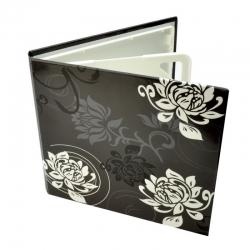 Carcasa 4 Cd Dvd  Model Floral - Negru