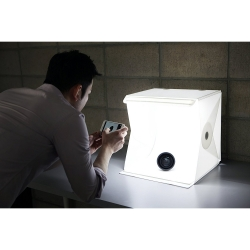 Foldio 2 - Cub Led Foto Cu Trepied Si Suport Telefon