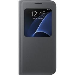 Husa Agenda S View Pt. Samsung Galaxy S7 - Negru