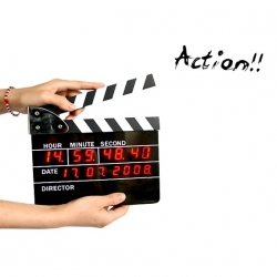 Kathay Clock Clapper Board - Ceas In Forma De Clac