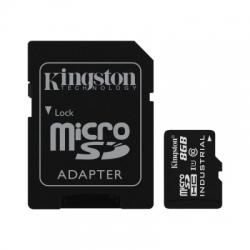 Kingston 8gb Microsdhc Uhs-i Industrial Temp + Ada