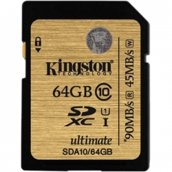 Kingston Sdxc Ultimate 64gb Class 10 Uhs-i 90mb/s