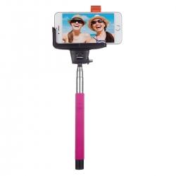 Kitvision Btssphpi - Selfie Stick Extensibil Cu Control Actionare Shutter Pe Bluetooth Si Suport De Telefon  Roz