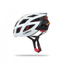 Livall Casca Bike Bluetooth Cu Microfon  Alerta Sos Si Leduri De Semnalizare Alb