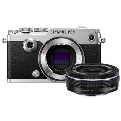 Olympus Pen-f Ez-m 14 42mm Ez Pancake Zoom Kit Slv