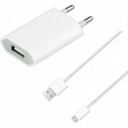 Pachet Incarcator + Cablu Usb - Alb