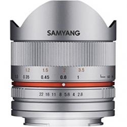Samyang 8mm F2.8 Fisheye Ii Sony E Argintiu