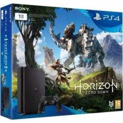 Sony Consola Ps4 Slim 1tb  Negru + Joc Horizon Zero Dawn
