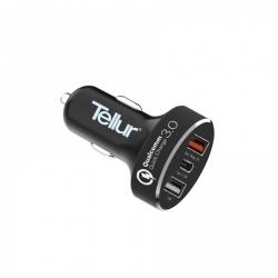 Tellur Incarcator Auto Qc 3.0 (qc 3.0 + 2.4a + Typ