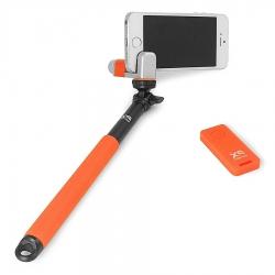 Xsories Me-shot Deluxe 2.0 - Selfie-stick 93cm Cu Telecomanda  Portocaliu/negru