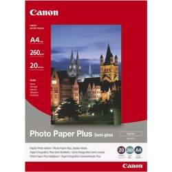 Canon Photo Paper Plus Semi-gloss Satin A4 20 Coli