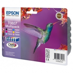 Epson T0807 Claria Photographic Ink - Kit Complet