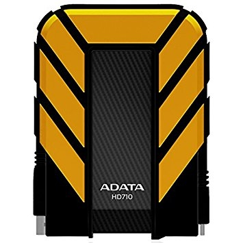 A-Data HD710 - HDD extern, 2TB, USB 3.0, Galben, Waterproof & Shockproof