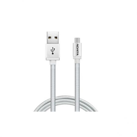 ADATA - Cablu USB tip A - Micro USB, Argintiu