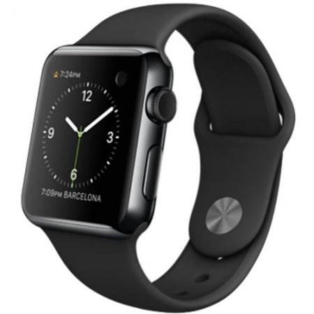 APPLE Watch 1 Otel Inoxidabil Negru 38 MM si Curea Sport Neagra M SN: RS125032880-4