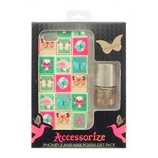 Accessorize Stamps Mix - lac de unghii si husa spate iPhone 5s / 5
