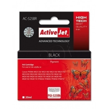 ActiveJet replace Canon PGI-525BK (20ml) - Pixma iP4950