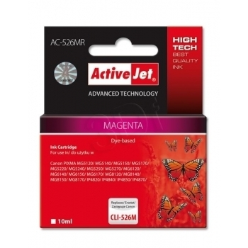 ActiveJet replace Canon CLI-526M (10ml) - Pixma iP4950