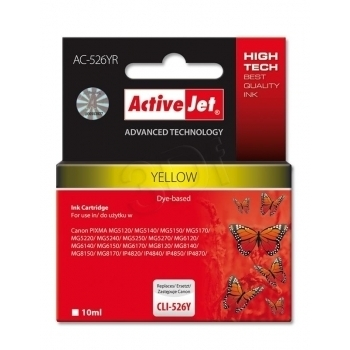 ActiveJet replace Canon CLI-526Y (10ml) - Pixma iP4950