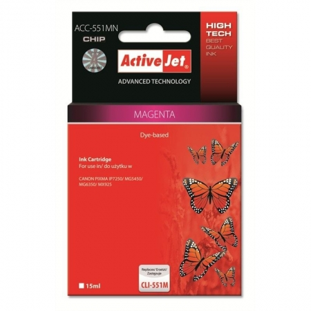 ActiveJet replace Canon CLI-551M magenta (15ml ) - Pixma IP7250