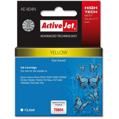 ActiveJet replace Epson T0804 yellow (13.5ml )