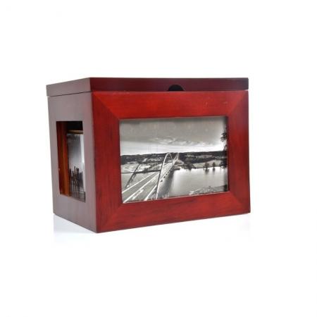 Album foto cufar personalizabil din lemn, 10x15, 144 fotografii
