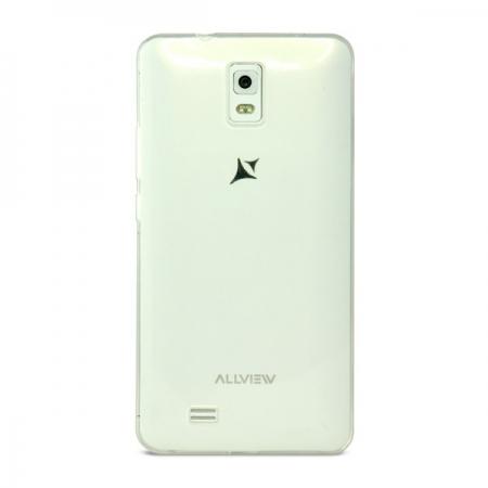 Allview Capac protectie spate silicon P6 QMAX - alb semitransparent