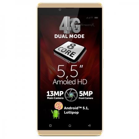 Allview V2 Viper X+ - Dual SIM, Octa-core 1.3 GHz, 16GB, 3 GB RAM, LTE 4G - auriu