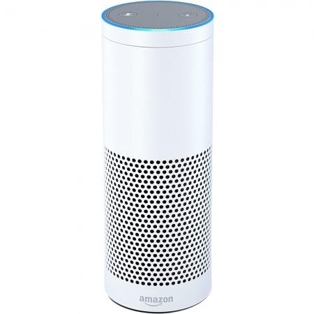 Amazon Echo - Boxa portabila cu aplicatie si control voce, Alb
