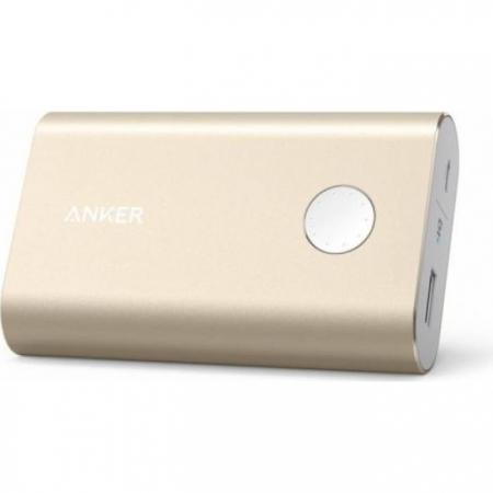 Anker PowerCore+ A1311HB1 - Baterie externa, 10050 mAh, Qualcomm Quick Charge 2.0, Auriu