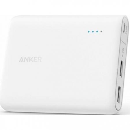 Anker PowerCore - Acumulator extern 10400 mAh, alb