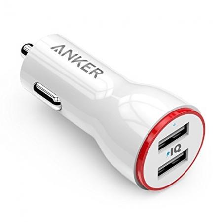 Anker PowerDrive 2 - Incarcator auto, 24W, 2xUSB, Alb
