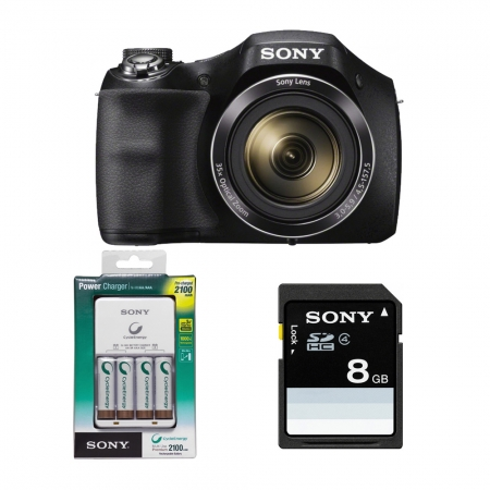 Aparat foto Sony Cyber-shot DSC-H300 ,20.1 Mp, Zoom 35x,+ card + incarcator - RS125010372-7