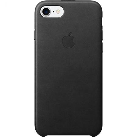 Apple Capac Spate Piele pentru iPhone 7, Negru