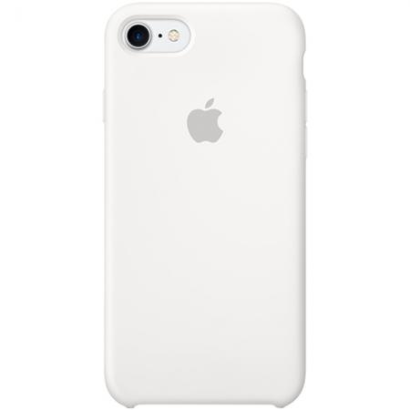 Apple Capac Spate Silicon pentru iPhone 7, Alb