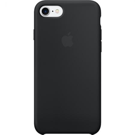 Apple Capac spate Silicon pentru iPhone 7, Negru