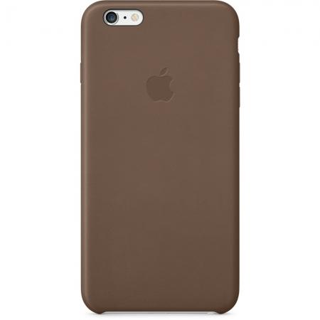 Apple - husa capac spate piele pentru iPhone 6 Plus - maro