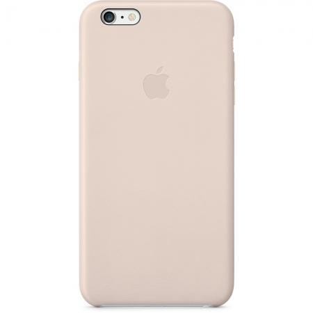Apple - husa capac spate piele pentru iPhone 6 Plus - roz
