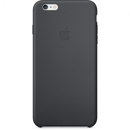 Apple - husa capac spate silicon pentru iPhone 6 Plus - negru