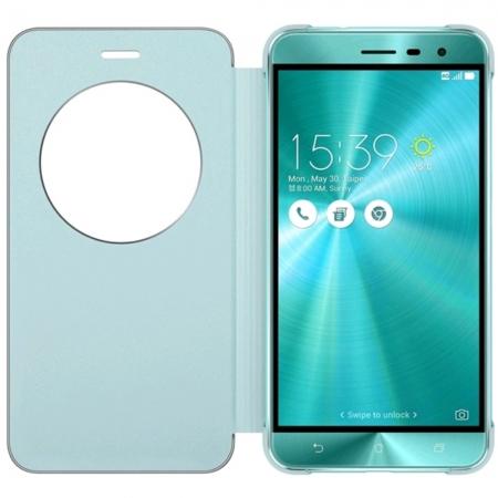Asus - Husa tip View Flip Cover pentru Zenfone 3 ZE520KL, Albastru
